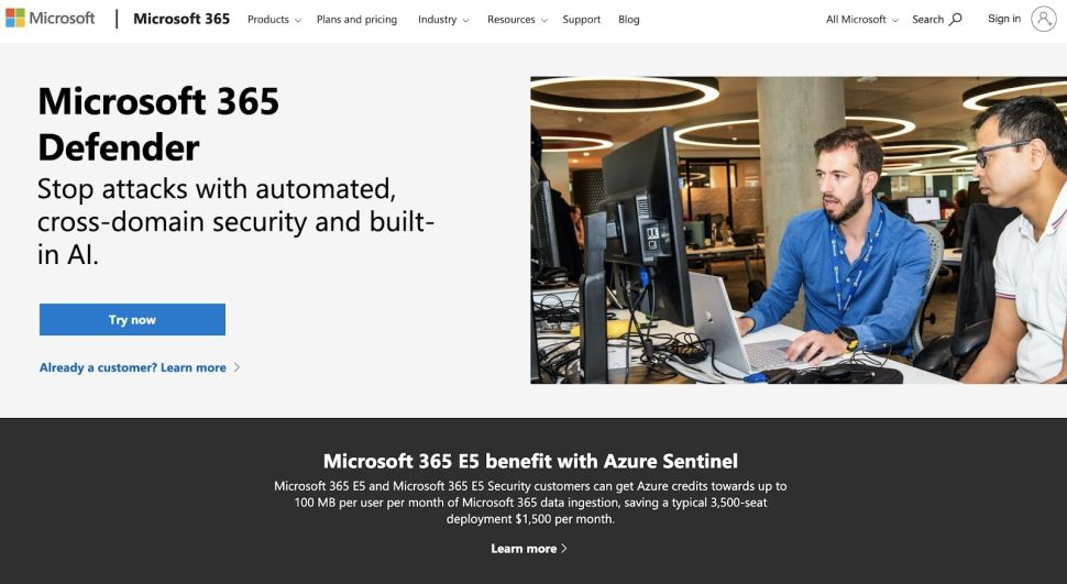 Microsoft 365 has multiple security measures in place (Image credit: Microsoft)