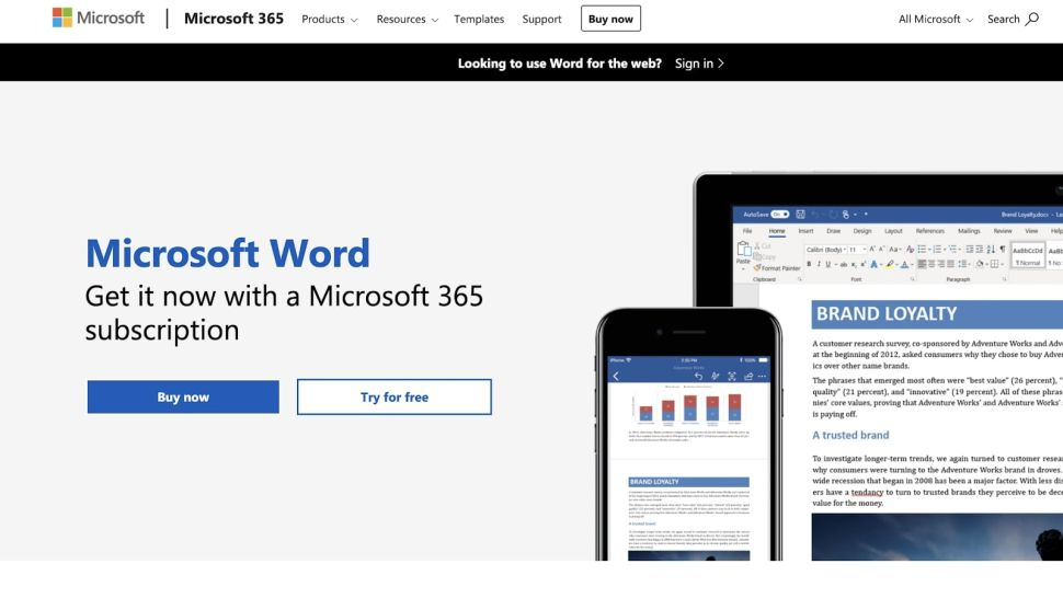 Microsoft Word is the world's most popular word processor (Image credit: Microsoft)