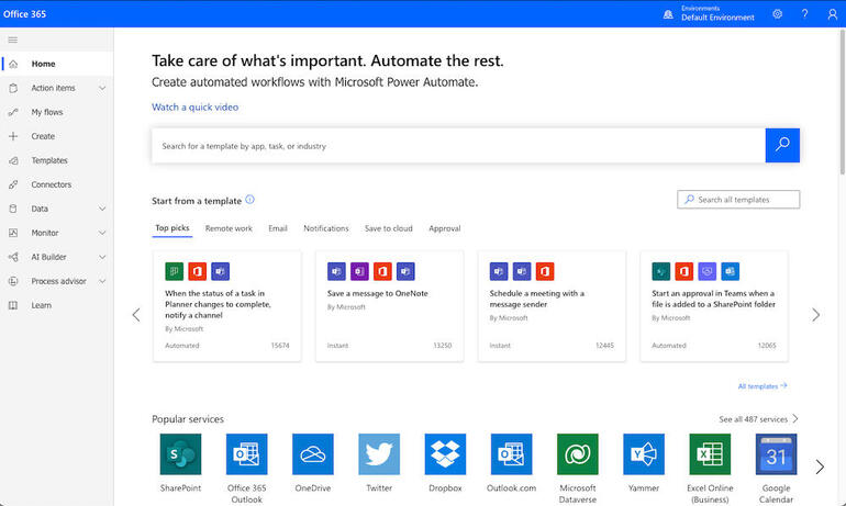 Microsoft 365's simple interface makes navigating between applications and files quick and easy.